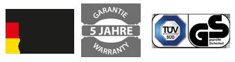 Infrarotheizung kaufen mit TÜV, 5 Jahre Garantie, Made in Germany