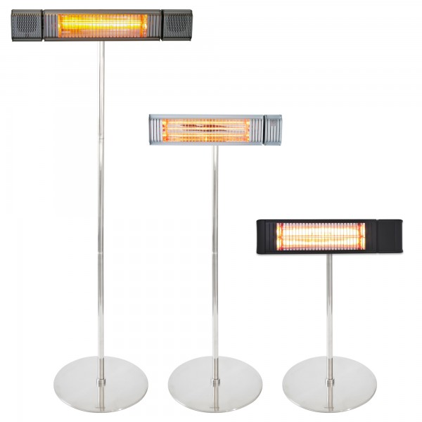 Heater stand for infrared wall heaters