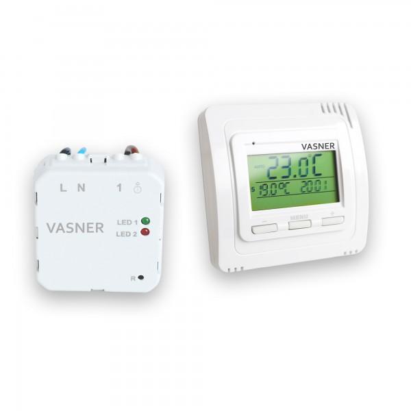 Funkthermostat System mit Unterputz Empfänger