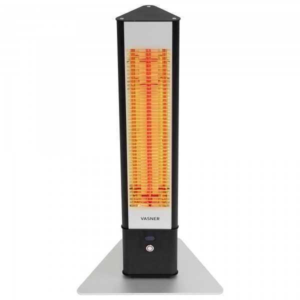 Infrared tower heater with 85% brightness reduction