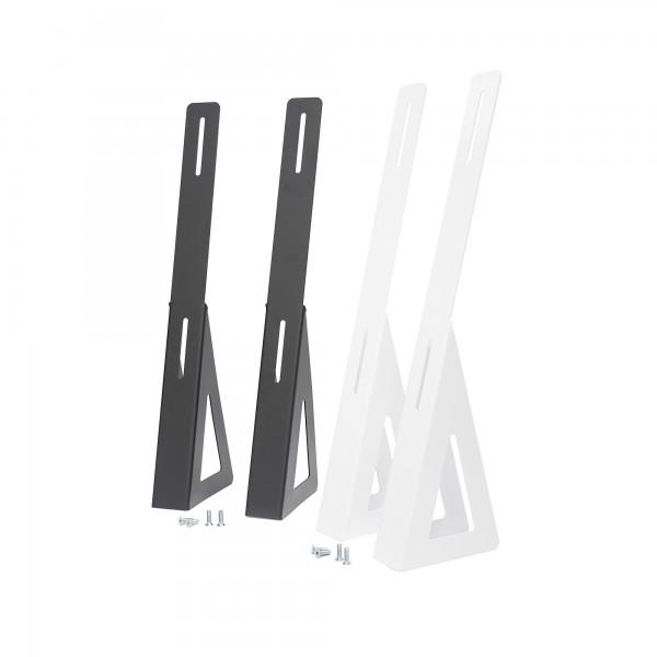 Infrarotheizung Standfüße Metall Schwarz & Weiß