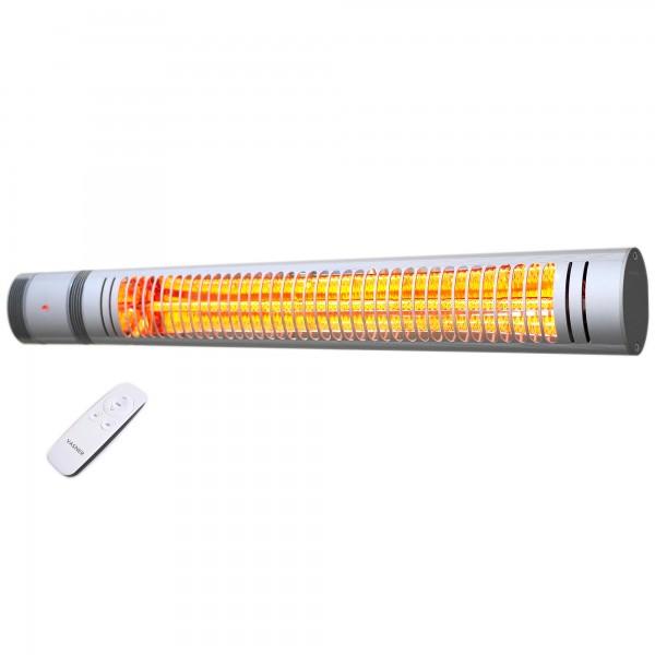 Electric patio heater VASNER Slim Line X20 silver incl. remote control