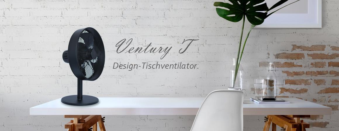 Tisch-Ventilator-modern-Metall-Weiss-Schwarz-VASNER-Ventury-T