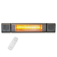 VASNER Appino BEATZZ Grey Patio Heater with Bluetooth Speakers