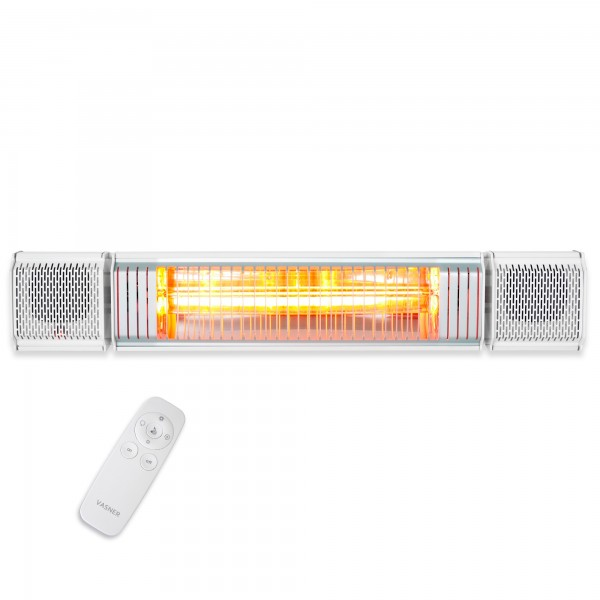 Bluetooth patio heater with remote control VASNER Appino BEATZZ White