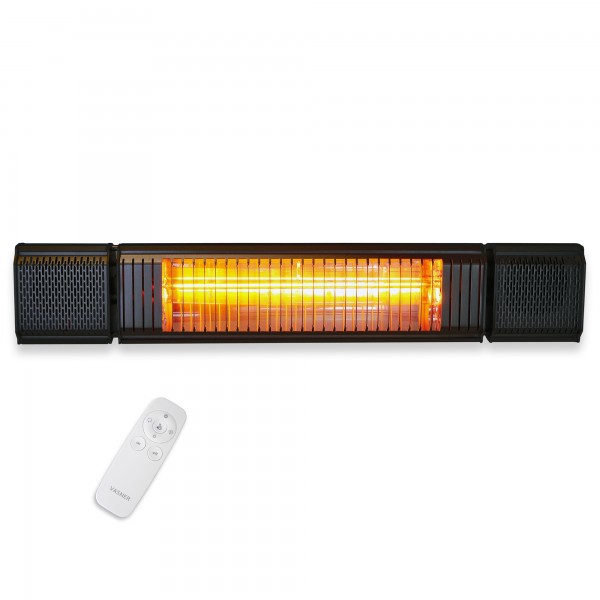 Patio heater with bluetooth app and remote control Appino BEATZZ Black