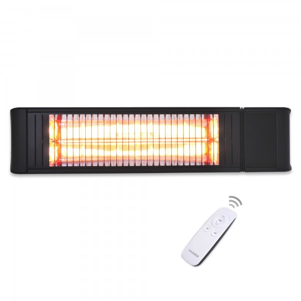 Black infrared ceiling heater with remote