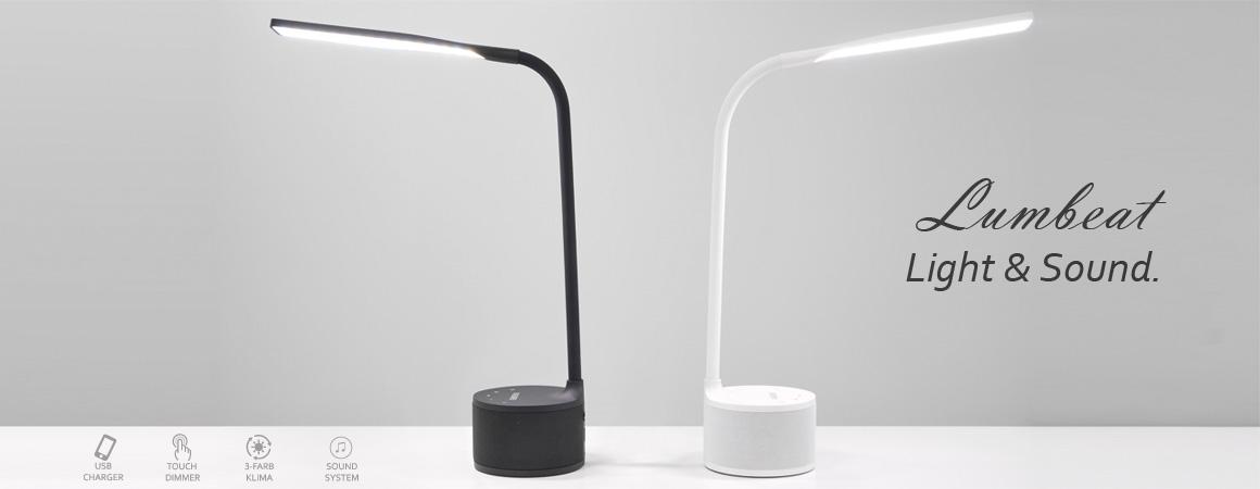 VASNER Lumbeat LED Tischlampe Nachttischlampe