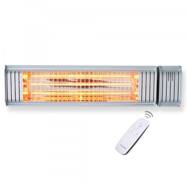 Infrared heater in silver with app and remote control Appino 20