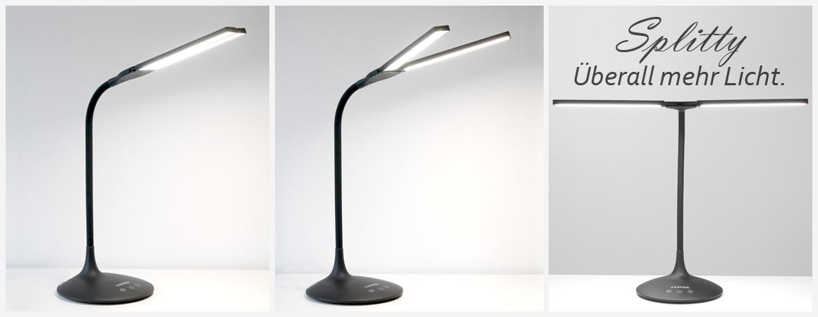 VASNER Splitty LED Tischlampe Schreibtischlampe Akku