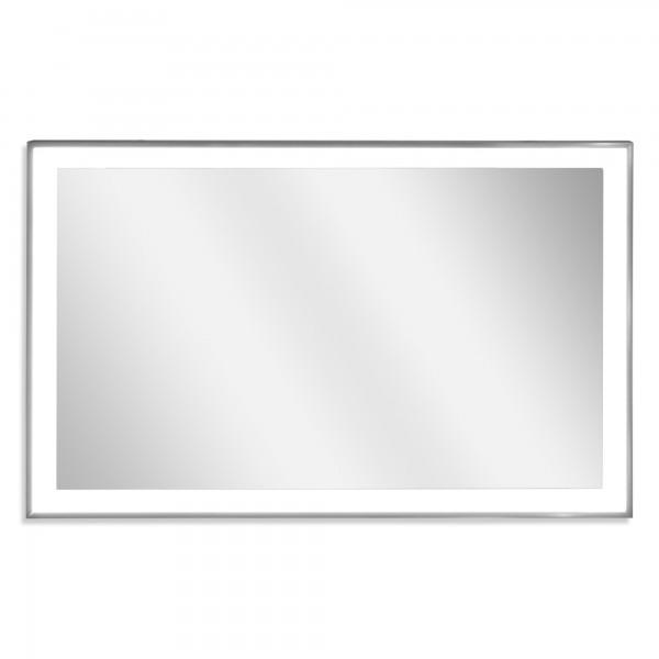 Zipris S LED Infrarotheizung Spiegel mit Chrom Rahmen