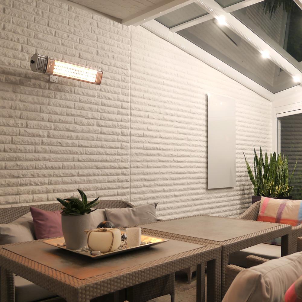 Infrarotstrahler VASNER Appino 20 an der Wand montiert Infrarot Terrassenstrahler Ratgeber