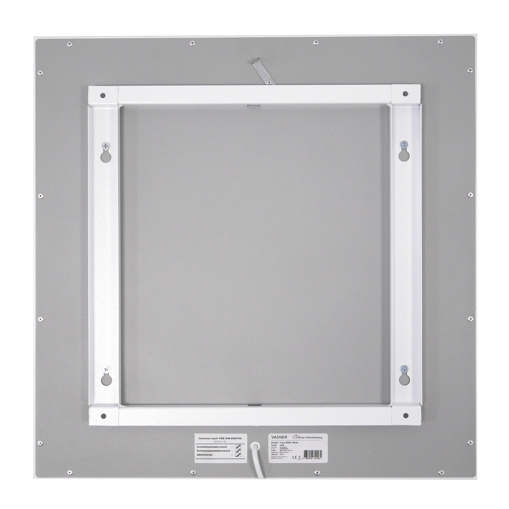 patented wall and ceiling bracket infrared panel heater
