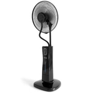 Stand Ventilator mit Wasserkühlung Schwarz