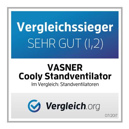 Comparison-test winner: VASNER Cooly pedestal fan - Very good (1,2) in a comparison of pedestal fans