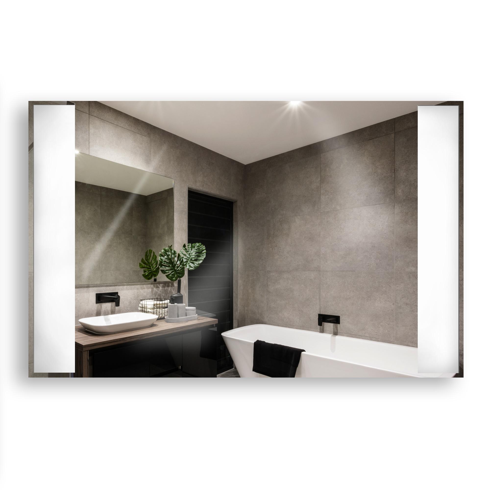 Spiegelheizkörper mit Infrarot Wärme und LED Licht