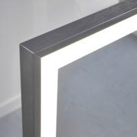 Spiegelheizung Infrarotheizung mit Licht und Metall Rahmen