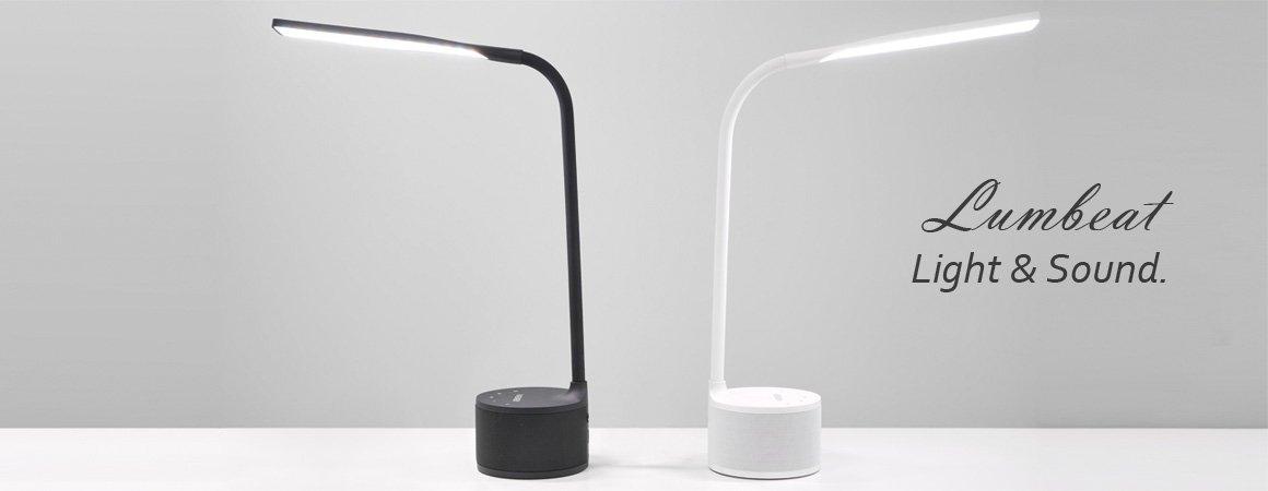 VASNER-Lumbeat-black-white-LED-Schreibtischlampe-Schreibtischleuchte-USB-Bluetooth-Musik
