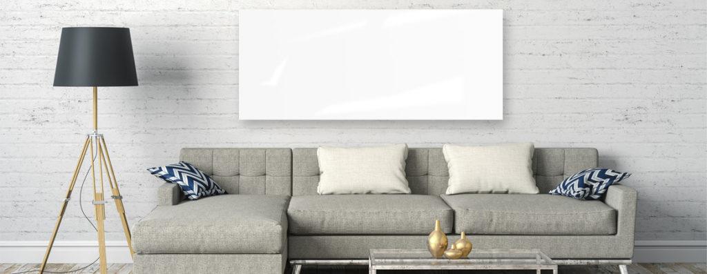 VASNER Infrarotheizung Glas weiß Extra Slim für eine optimale Raumtemperatur