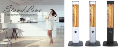 StandLine 25 Free-Standing Infrared Patio Heaters for Cosy Warmth