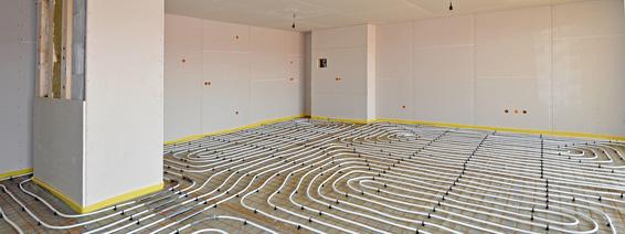 Elektroheizung Fußbodenheizung zum Heizen mit Strom