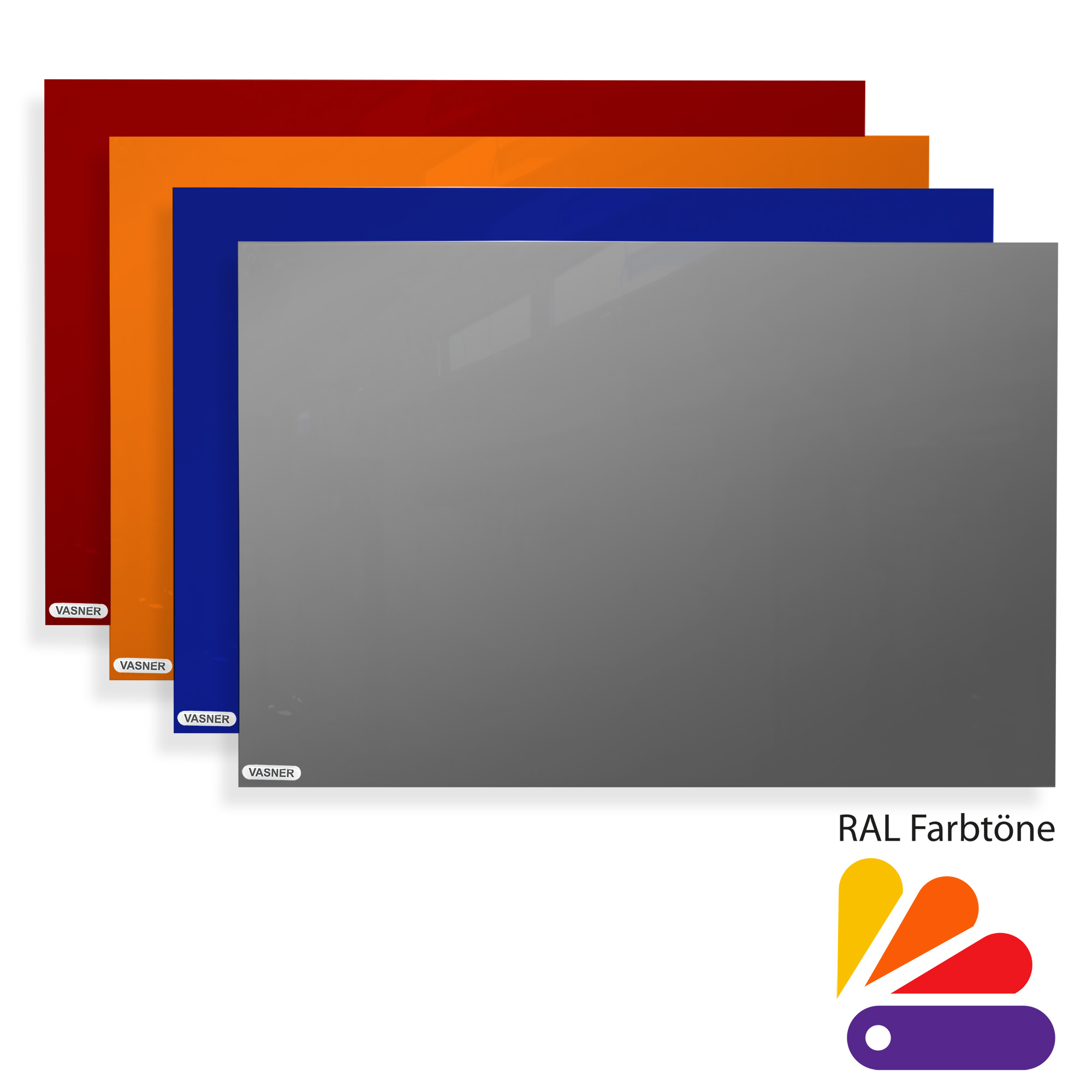 Glas Wandheizung in beliebiger RAL-Farbe