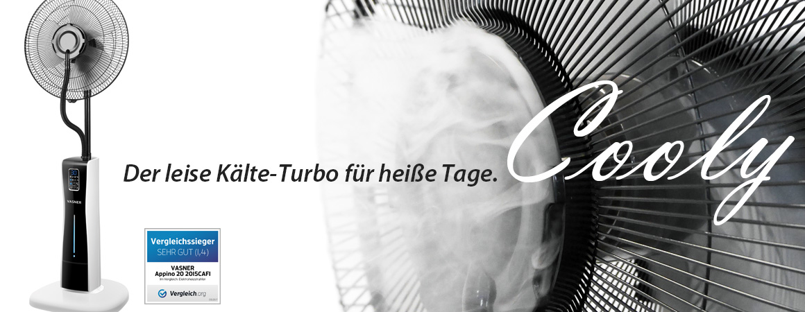 Der innovative Design Ventilator mit Ultraschall Sprühnebel