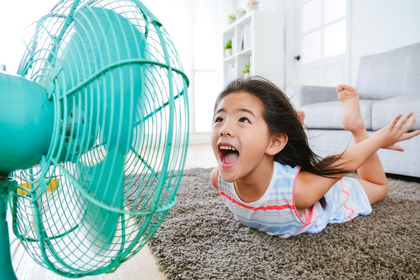 Mit einem VASNER Ventilator wird das Abkühlen an heißen Tagen zum Kinderspiel!