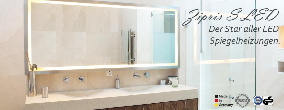 VASNER LED-Licht-Spiegel-Infrarotheizung für Ihr Traumbad