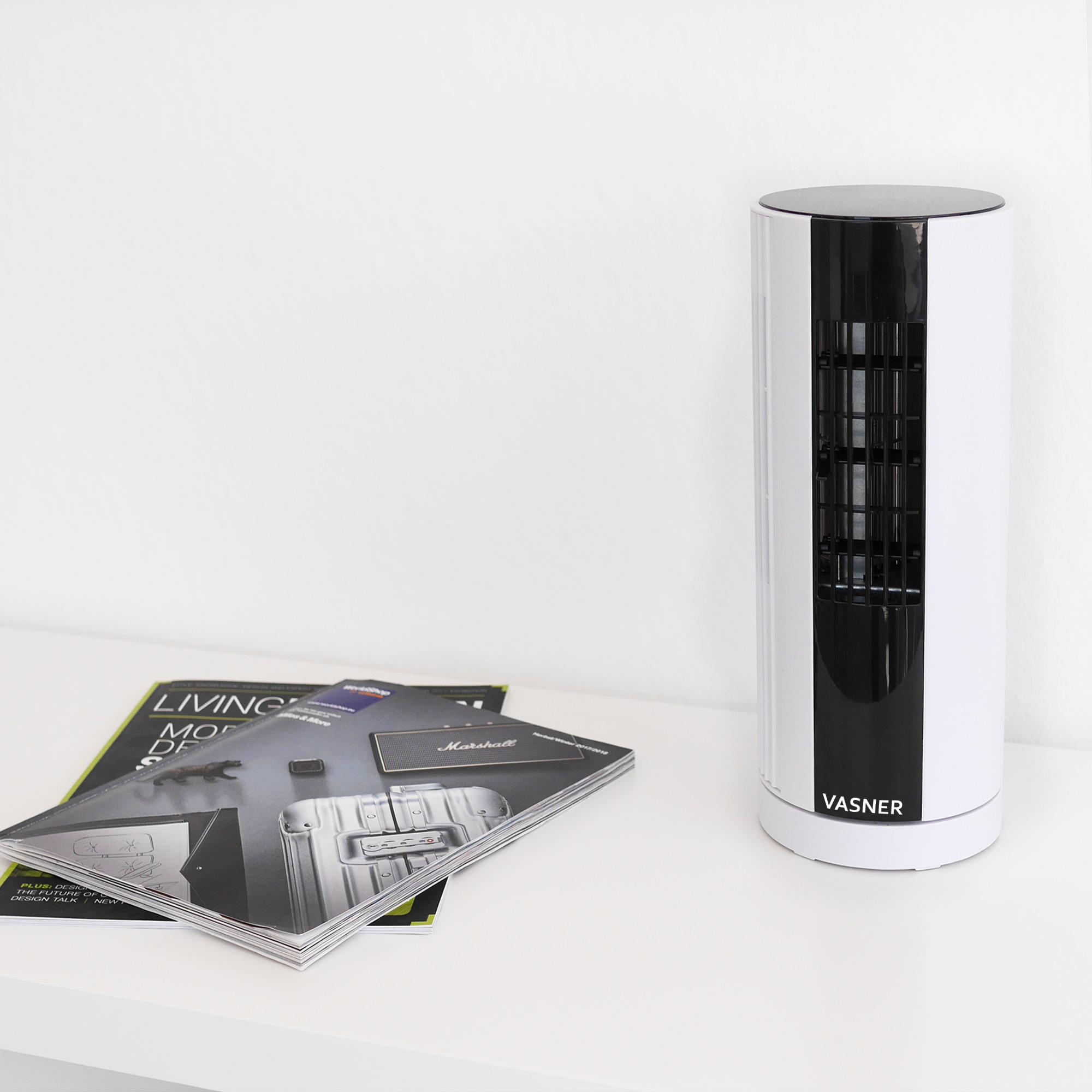 vasner millifan turmventilator der flexible schreibtisch. Black Bedroom Furniture Sets. Home Design Ideas