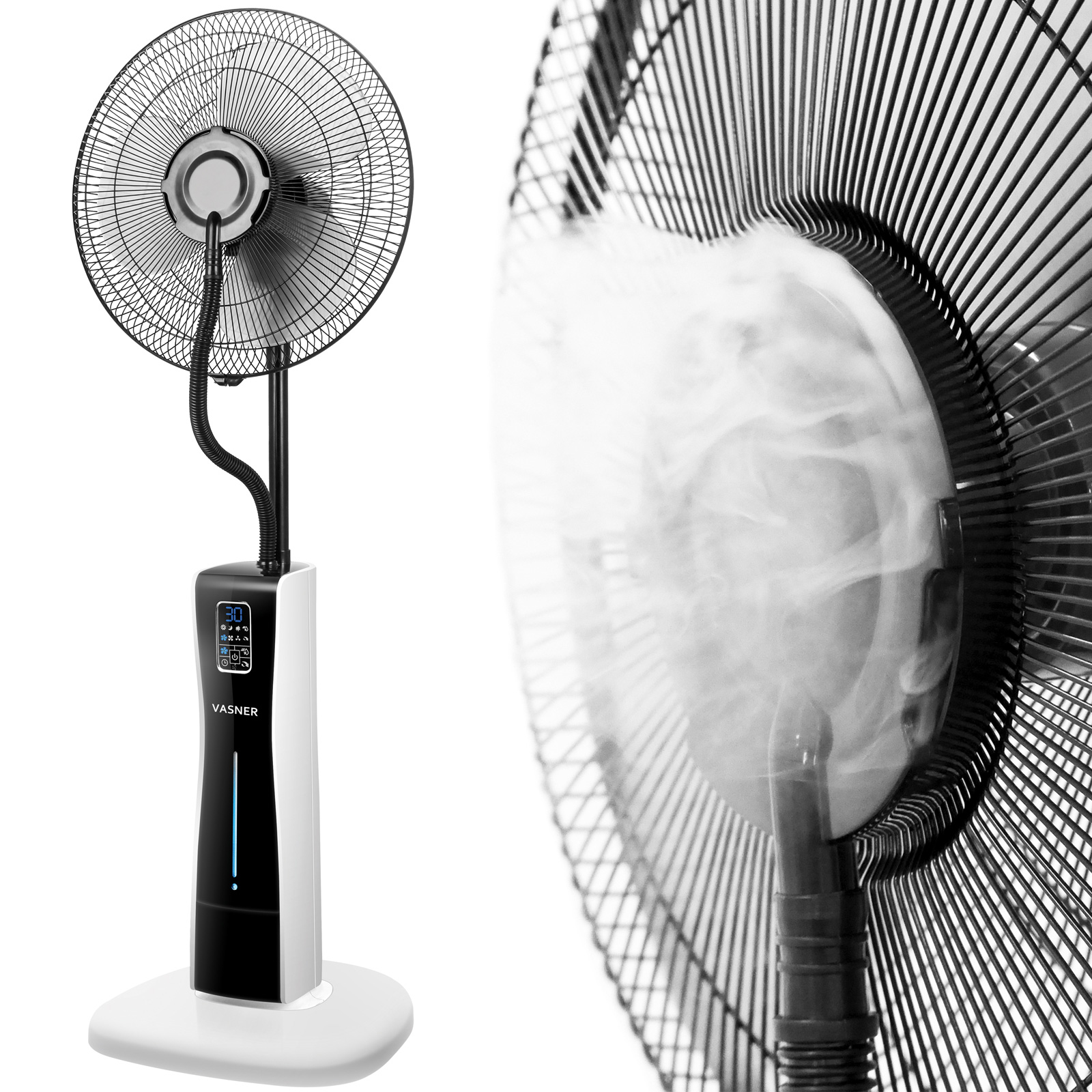 Der VASNER Cooly Sprühnebel-Ventilator für eine angenehm frische Temperatur im Büro