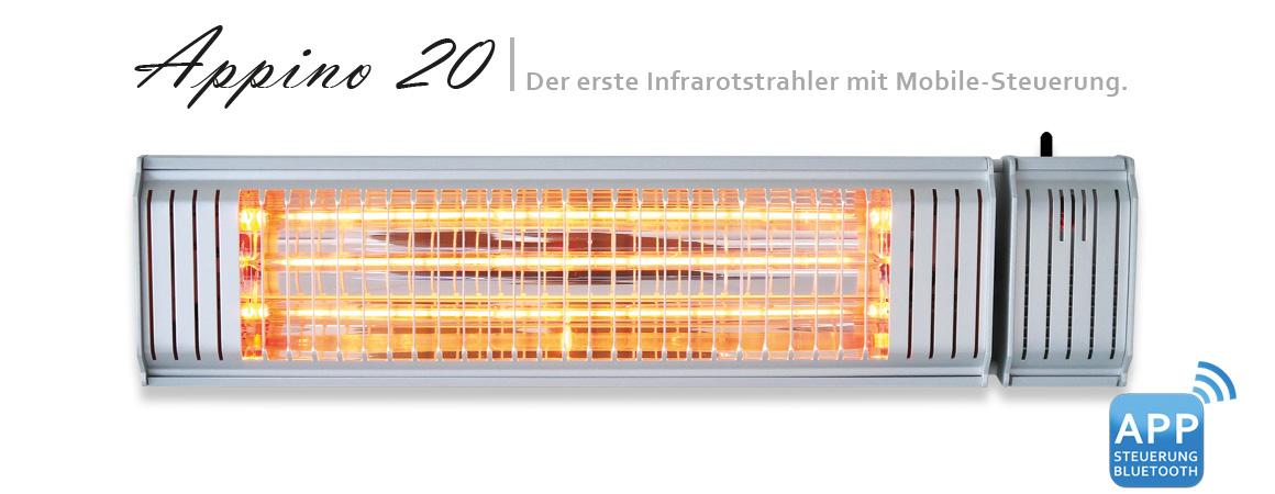 Der Appino 20 Deckenheizstrahler überzeugt im Heizstrahler Test 2018