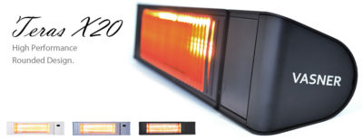 VASNER Teras X20 Outdoor Infrared Heater with 2000 watts