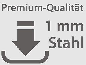 Die hochwertige Strahlungsheizung mit 1 mm Materialstärke