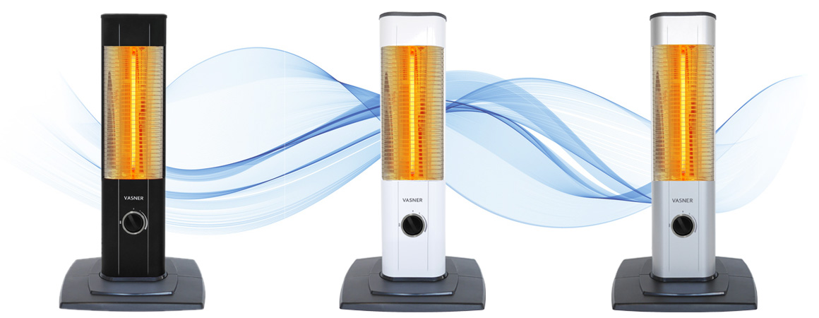 Stand up heater in three colours