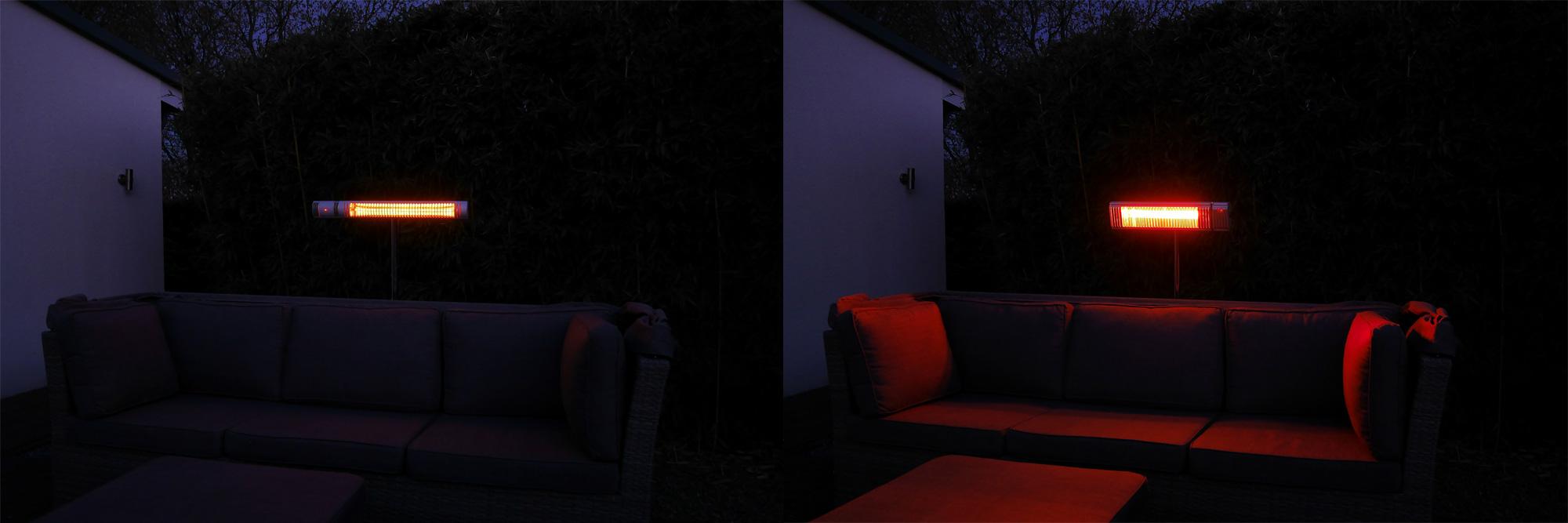 Elektro Heizstrahler Vergleich Licht Abgabe