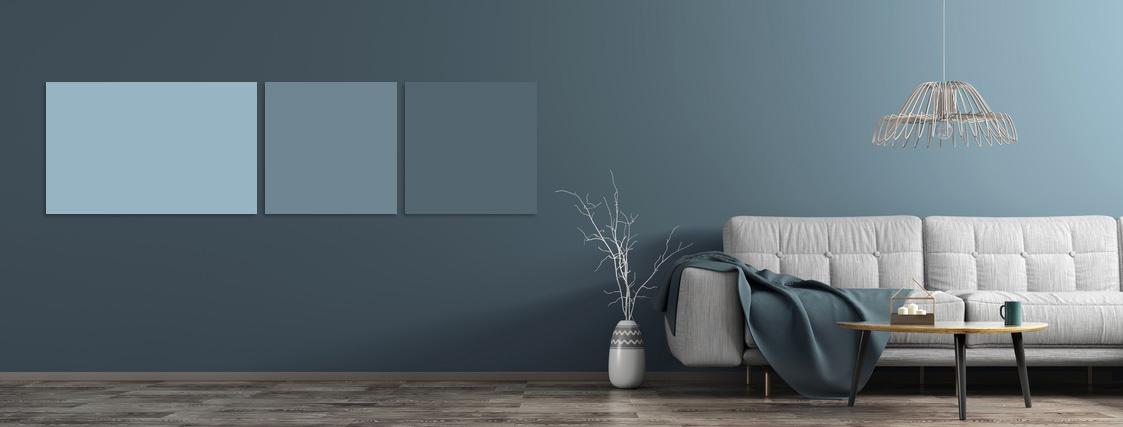 Farbige Infrarotheizung in Abstimmung mit Wandfarbe