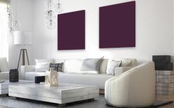 Infrarotheizung farbig in Purpurviolett RAL 4007