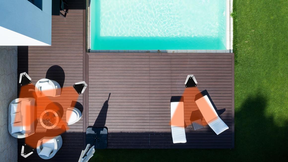 Infrarot Stand-Heizstrahler Einsatz Terrasse