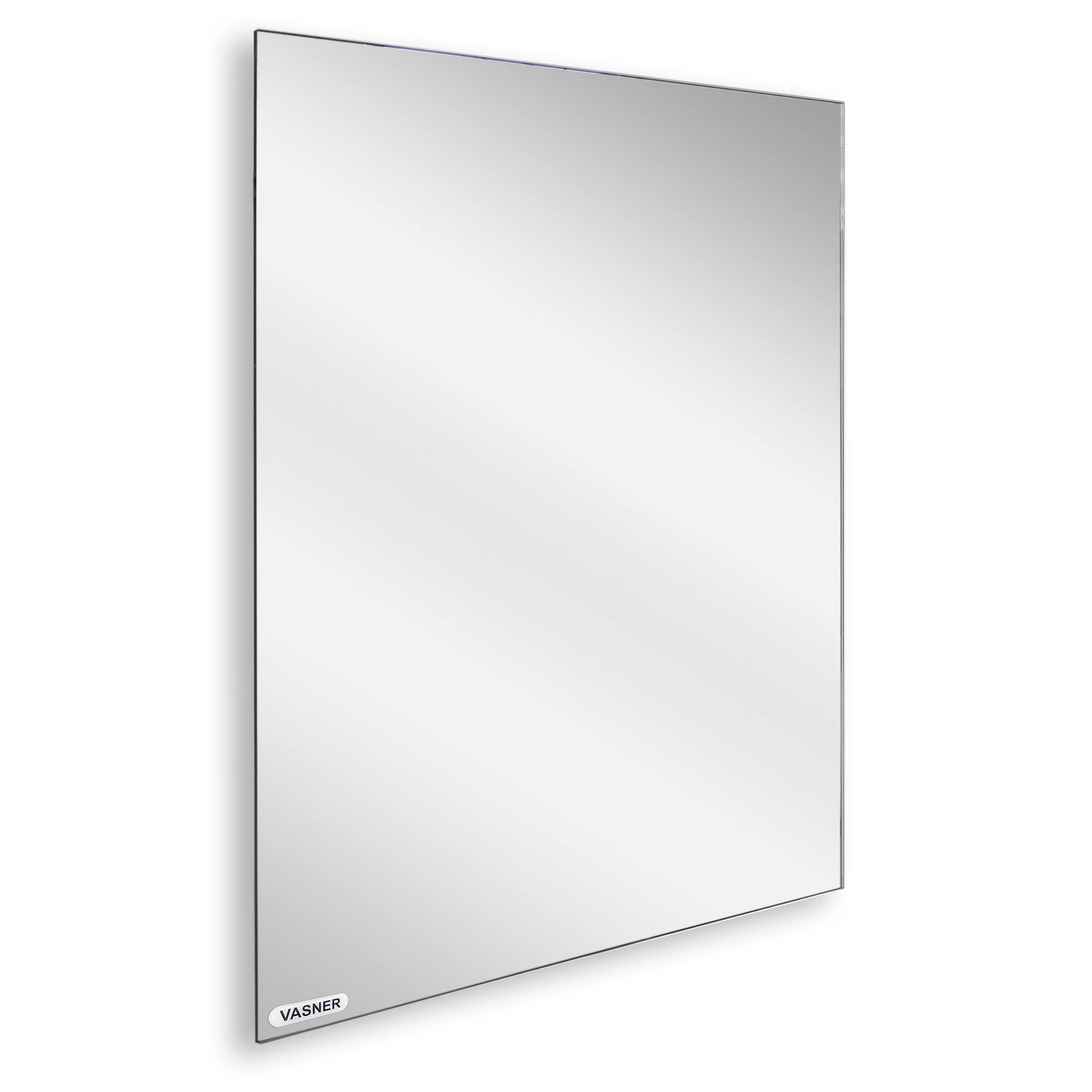 Frameless mirror heating panel