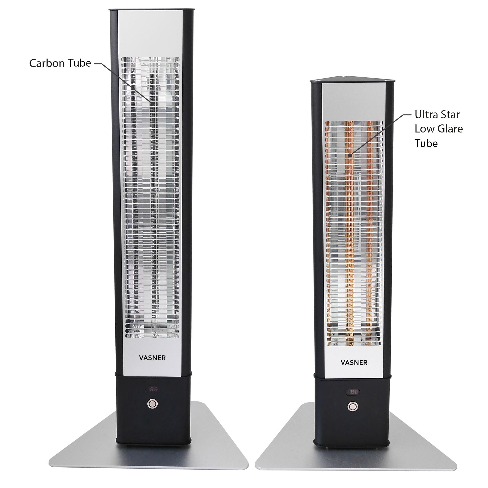 Best outdoor heaters with latest infrared technology: carbon tube + ultra star low glare