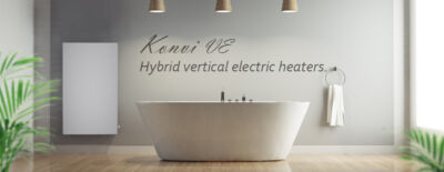 Hybrid vertical electric heaters for quick warmth