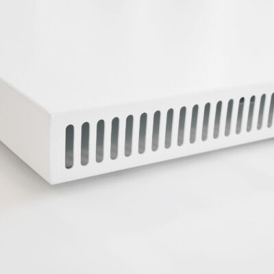 Vertical wall heater with infrared + convection
