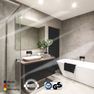 Infrared bathroom panel heater
