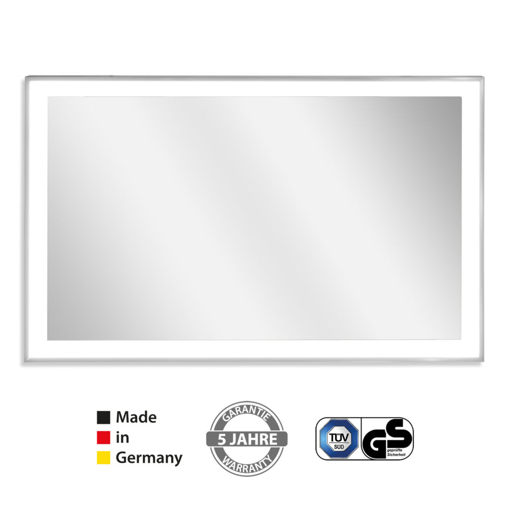 Infrared mirror heater with frame + LED light