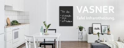 Infrarotheizung Tafel beschreibbar mit Kreide, TÜV, IPX4, 5 Jahre Garantie
