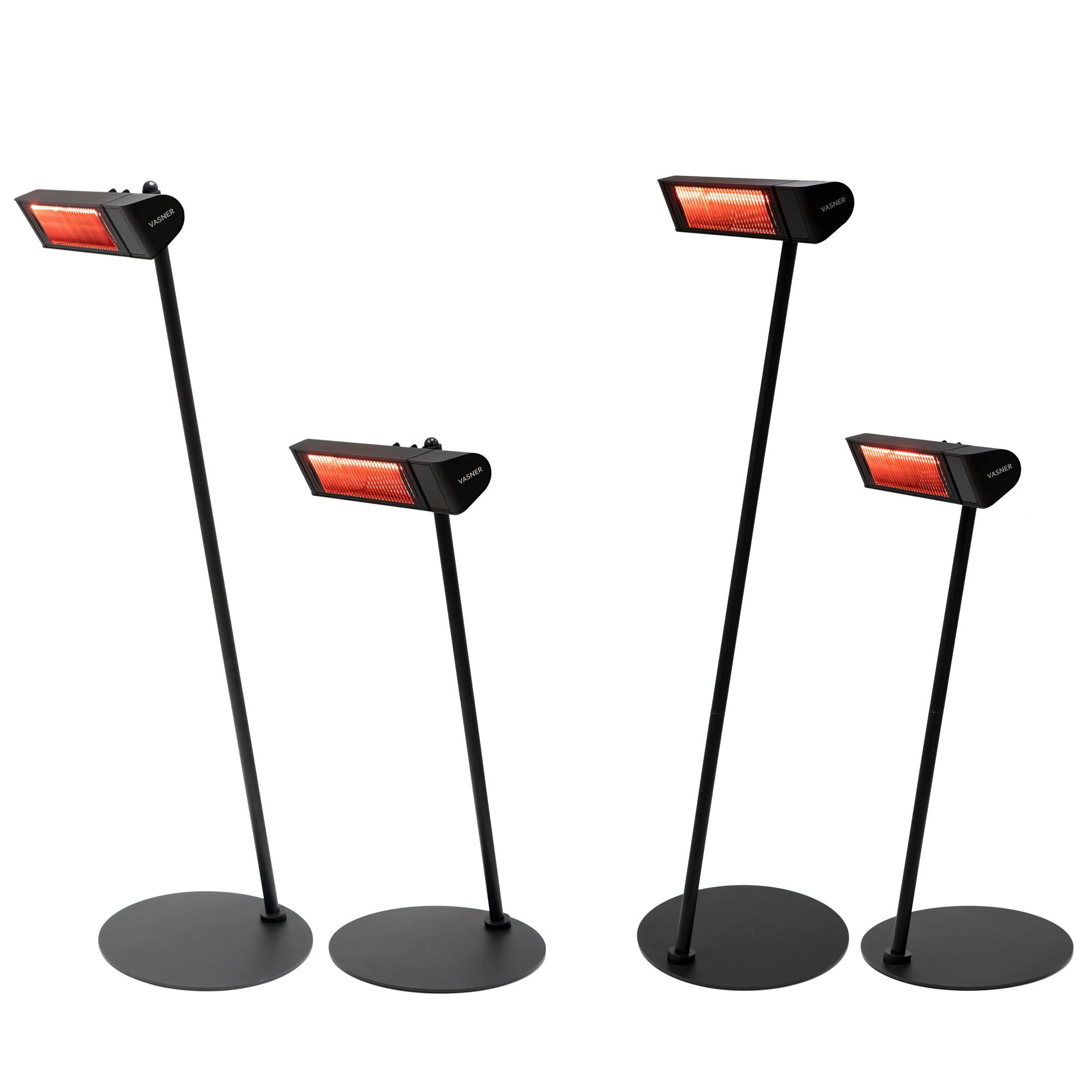 Ständer für Heizstrahler im schrägen Design