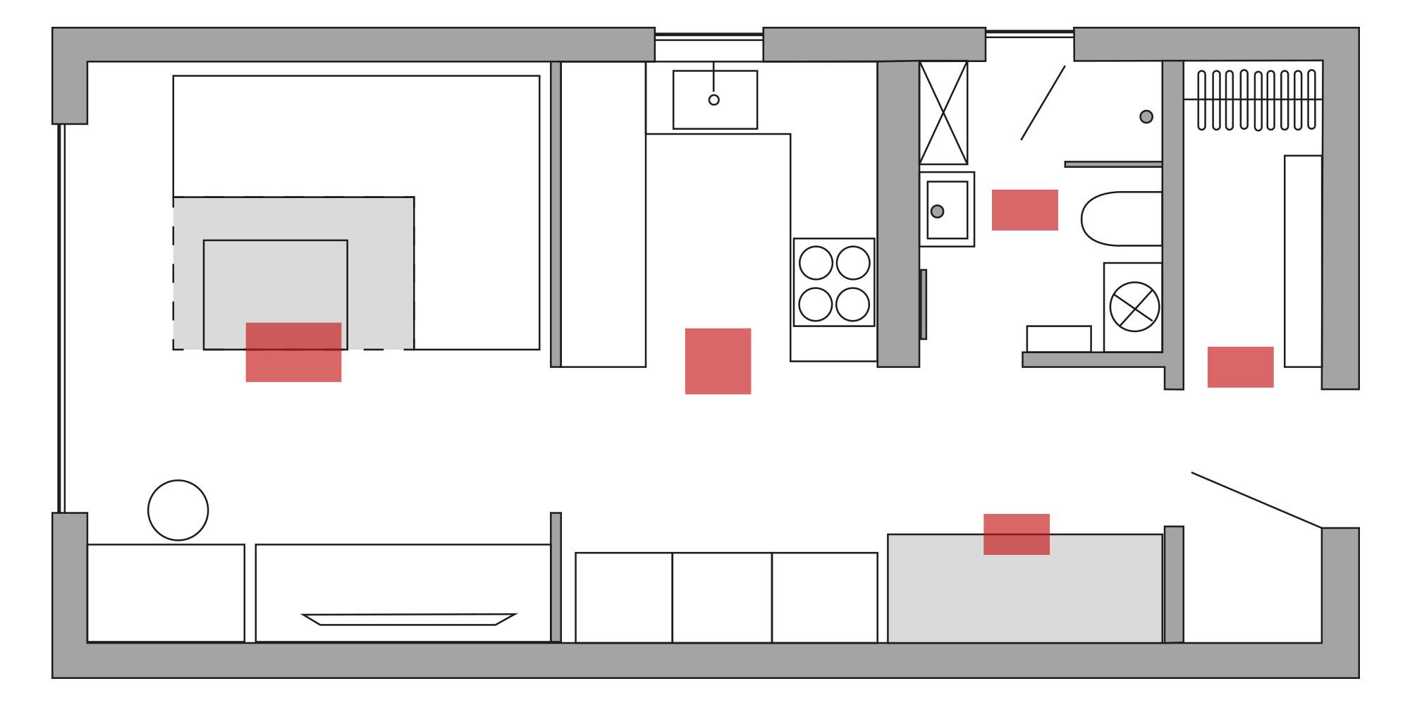 Infrarot Tiny House Heizung Verteilung bei guter Dämmung