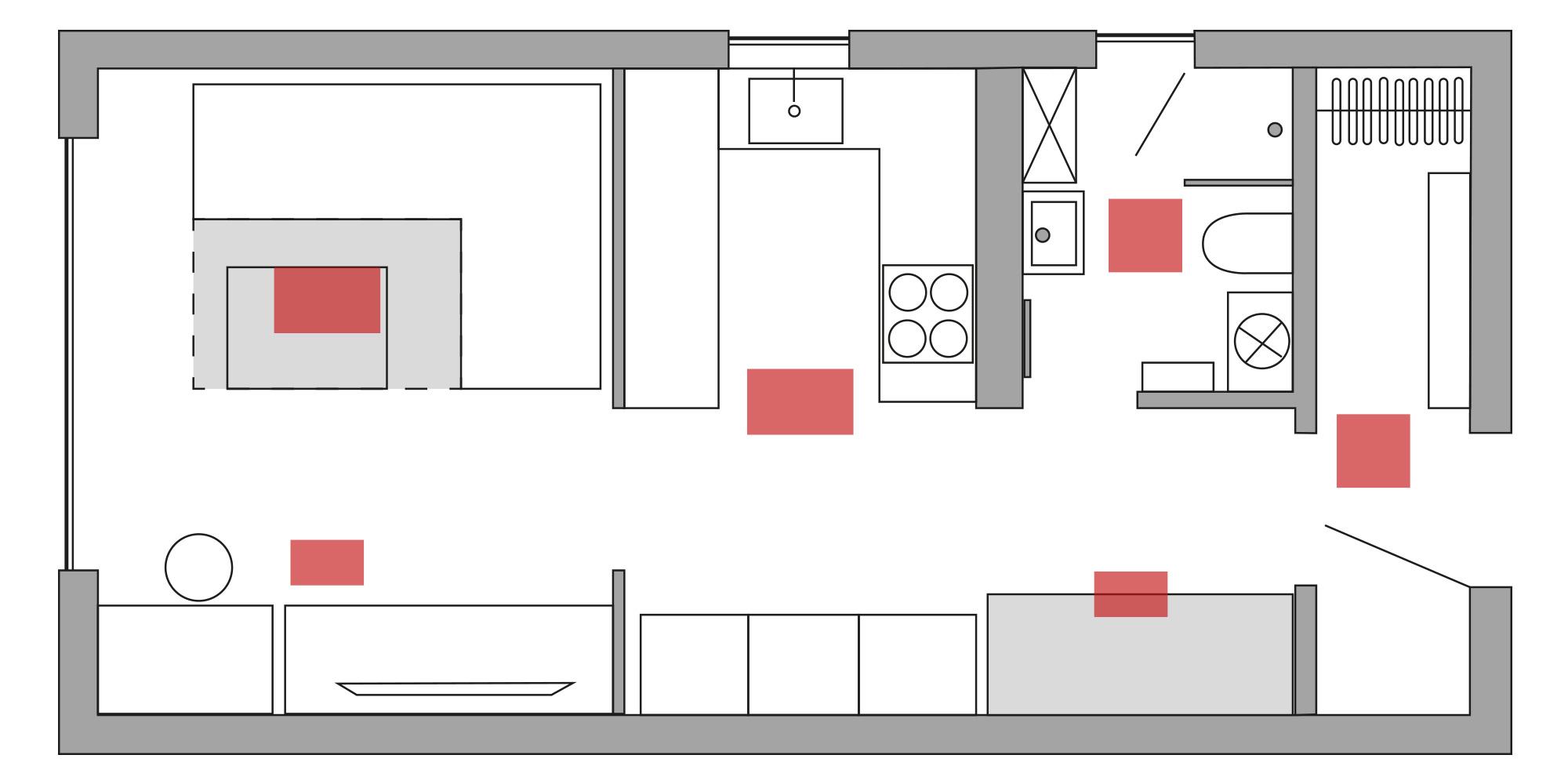 Tiny House Heizung Positionierung bei mittelmäßiger Gebäudedämmung