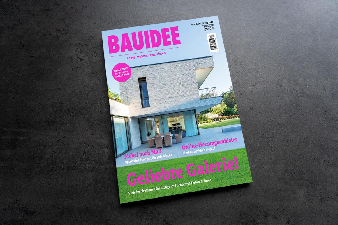VASNER Tafelheizung wird im Fachmagazin BAUIDEE vorgestellt